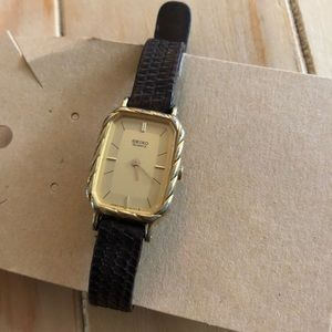 Vintage Seiko leather watch